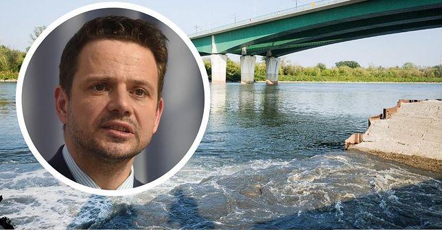 Wisła. Warszawa. Rafał Trzaskowski odpowiada na pytania o awarię