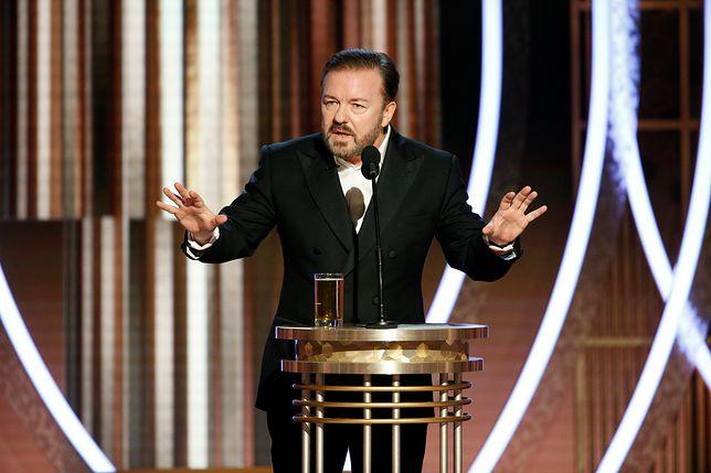 Ricky Gervais był ostrym prowadzącym gali Złotych Globów.