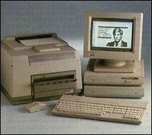 Zestaw Mega ST4 z monochromatycznym monitorem wysokiej rozdzielczości SM124 oraz drukarką laserową SML804.