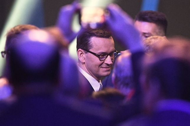 Mateusz Morawiecki podczas konwencji PiS