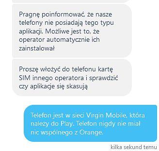 Ale jednak support był po polsku. Odpowiedź wsparcia całkiem trafna, ale nie w moim wypadku.