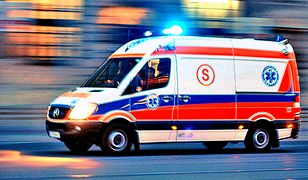 Mężczyzna trafił w ciężkim stanie do szpitala