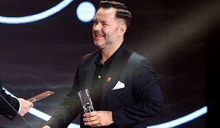 Odbierając nagrodę w Gdyni, podziękował partnerowi. Publiczność wiwatowała
