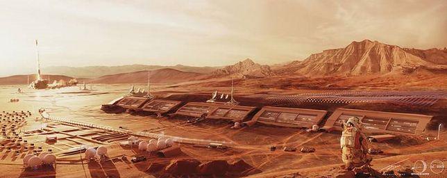Tak miałoby wyglądać polskie miasto na Marsie