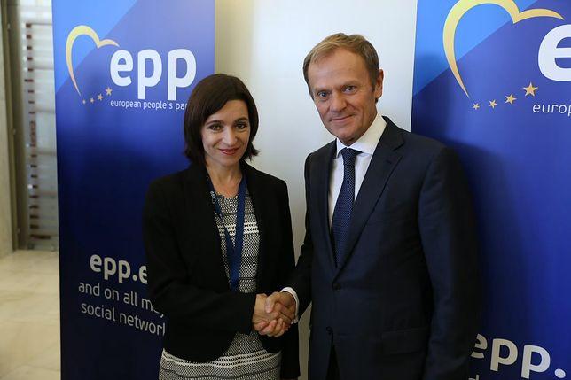 Wybory prezydenckie w Mołdawii. Donald Tusk gratuluje Mai Sandu
