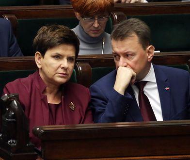 Beata Szydło i Mariusz Błaszczak we wtorek przekazali informację ws. pomocy po nawałnicach