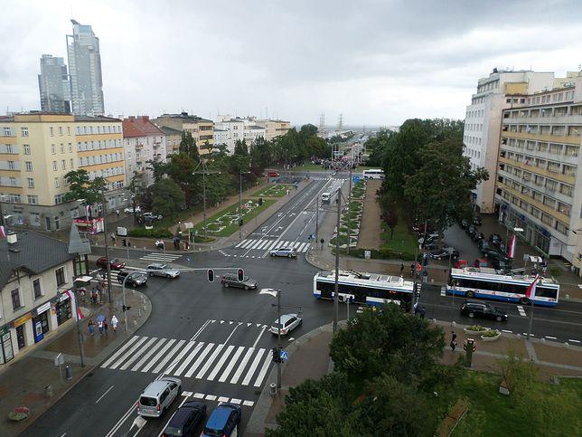 Gdynia, widok na skrzyżowanie