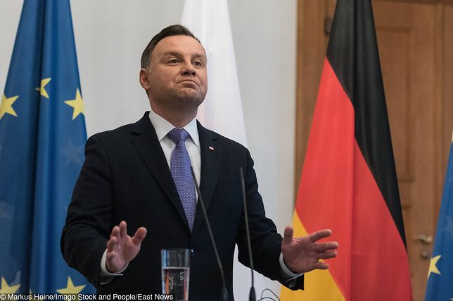 Andrzej Duda w Berlinie skomentował wyrok TSUE ws. SN i problemy Polski w UE