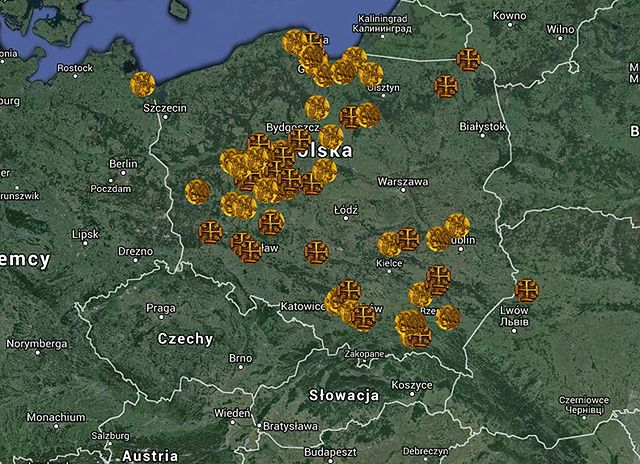Powstała polska mapa skarbów. Stworzył ją pasjonat historii Michał Młotek