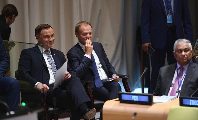 Liczba sympatyków Andrzeja Dudy jest porównywana do liczby zwolenników Donalda Tuska