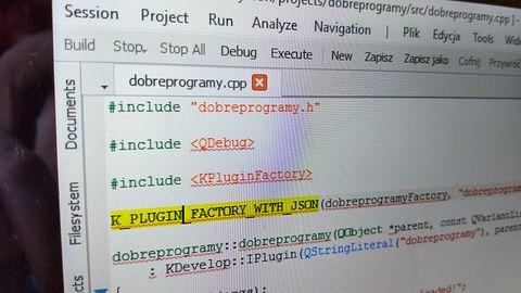 KDevelop: świetne IDE nie tylko dla miłośników Plasmy