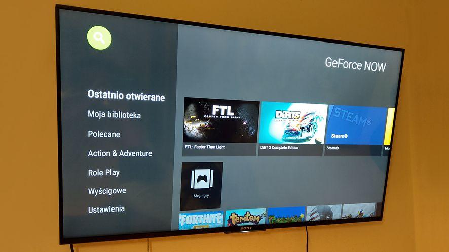 GeForce Now można zainstalować na dowolnym sprzęcie z Android TV (fot. Jan Domański, dobreprogramy)