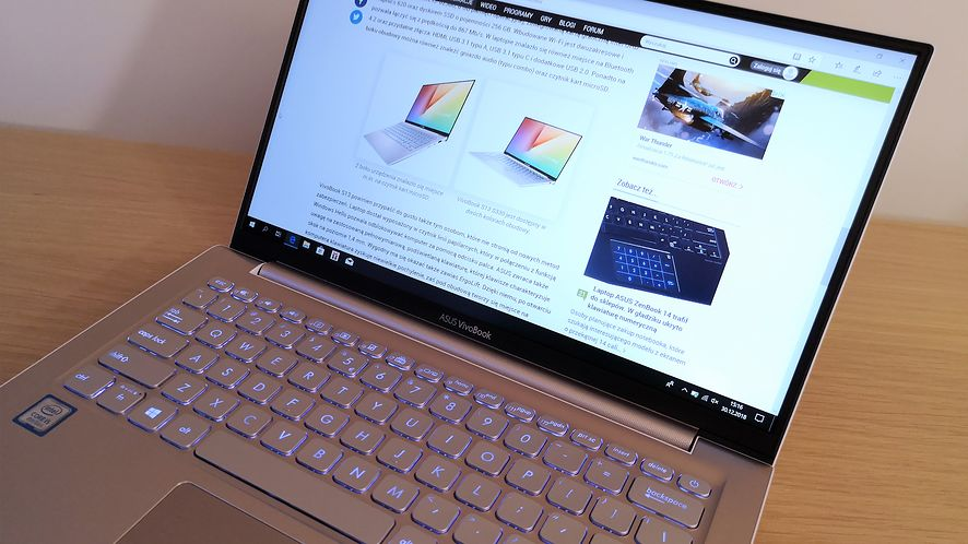 ASUS VivoBook S13 – test pierwszego laptopa z ekranem NanoEdge