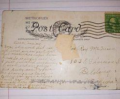 Stuletnia pomyłka poczty. Kobieta szuka adresata pocztówki