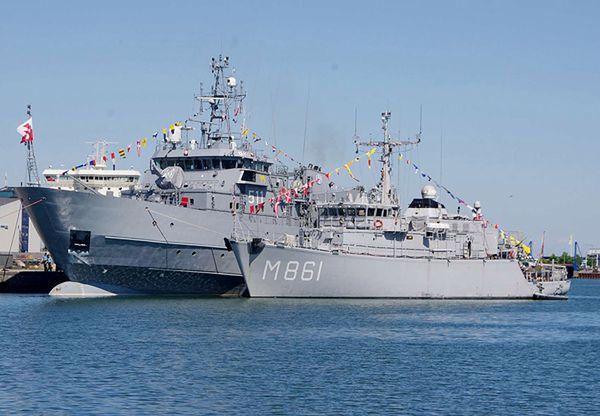 Okręty Marynarki Wojennej RP w porcie Ronne na Bornholmie