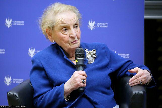 Madeleine Albright zaniepokojona sytuacją w Polsce i na Węgrzech