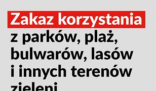 Koronawirus w Warszawie. Zamknięte parki, lasy, bulwary i plaże