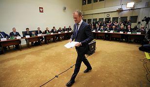 Donald Tusk na przesłuchaniu w Sejmie