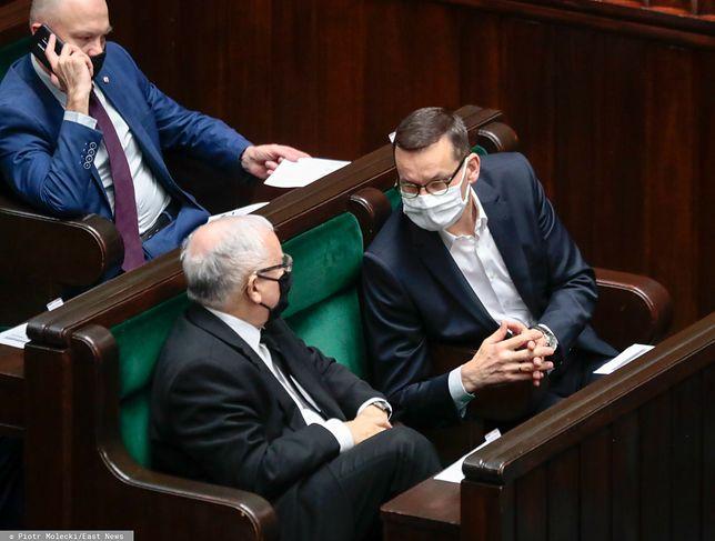 Prezes PiS Jarosław Kaczyński oraz premier Mateusz Morawiecki (zdj. arch.)