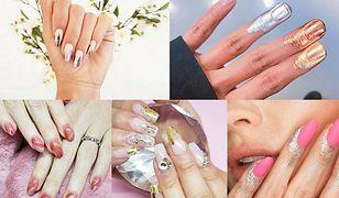 Brokatowe paznokcie to trend, który najczęściej powraca w sezonie karnawałowym (fot.  cnd_italia, misspopnails, unistella, tamaradilullo)