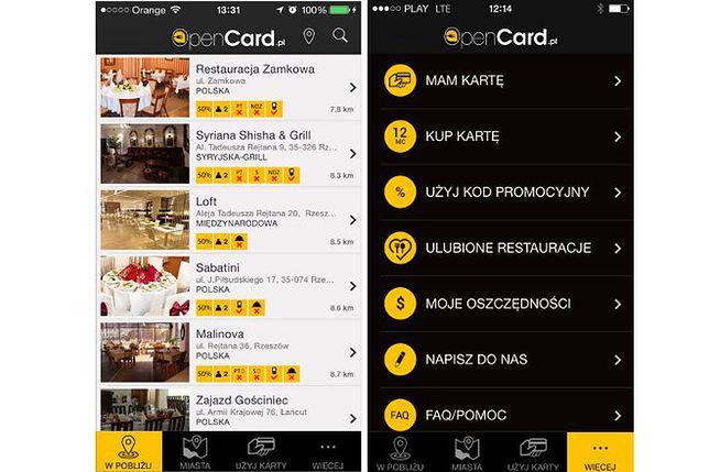 OpenCard - aplikacja, z którą zaoszczędzisz 50 proc. w restauracji i pubie
