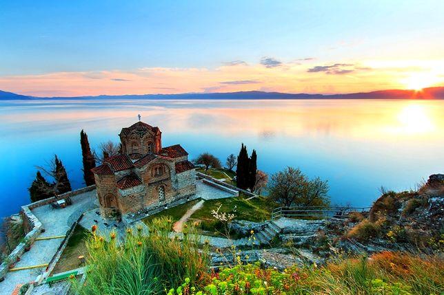 Jezioro Ochrydzkie od strony macedońskiej