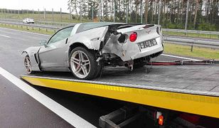 3.Wypadek Chevroleta Corvette. Cztery auta uszkodzone