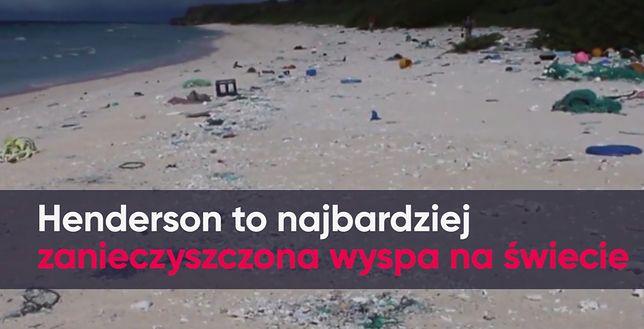 Tony plastiku na plaży. To najbardziej zanieczyszczona wyspa świata