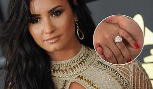 Pierścionek zaręczynowy Demi Lovato kosztował fortunę. Ogromny brylant