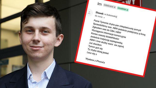 Tymon Radzik pokazał na Facebooku rzekomą odpowiedź od rektora jednej z publicznych uczelni.