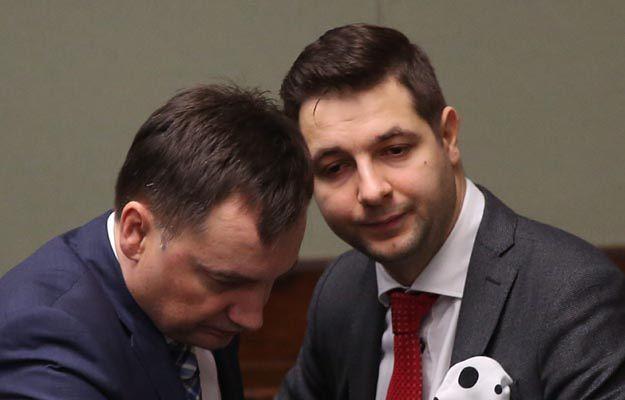 Patryk Jaki i Zbigniew Ziobro w Sejmie