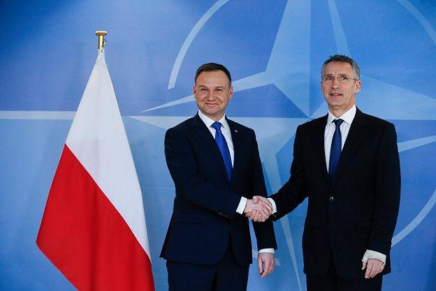 Prezydent Andrzej Duda spotkał się z sekretarzem generalnym NATO Jensem Stoltenbergiem