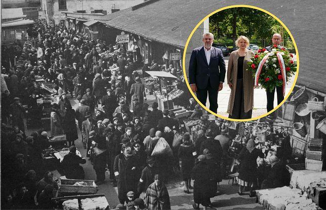 22 lipca -  rocznica pierwszej deportacji mieszkańców warszawskiego getta do obozu w Treblince. Członkowie Polsko-Izraelskiej Grupy Parlamentarnej składają kwiaty przy pomniku Umschlagplatz w Warszawie