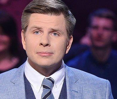 """Filip Chajzer podczas nagrania odcinka """"Milionerów"""""""