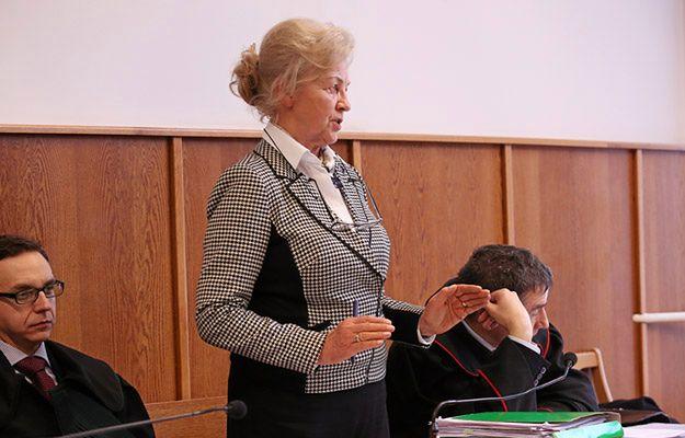 Krystyna Kornicka-Ziobro podczas jednej z rozpraw w procesie lekarzy oskarżonych ws. śmierci Jerzego Ziobry