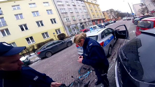 Przeszukanie rowerzysty