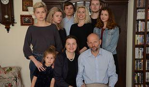 Bożena Pietras z rodziną