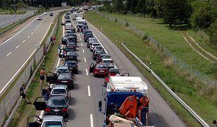 Duże korki na A4 w województwie dolnośląskim. Polacy wracają z Niemiec