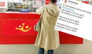 Ceny usług pocztowych rosną, a ceny u kurierów od lat są takie same.
