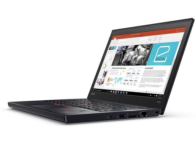 Lenovo ThinkPad X270, który ma wytrzymać nawet 21,5 godziny pracy na jednym ładowaniu akumulatora
