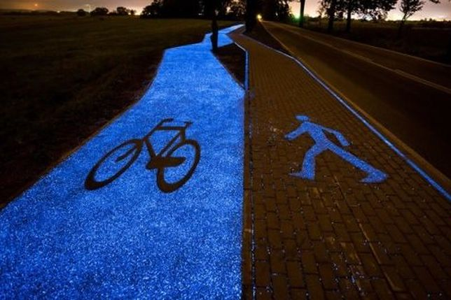 Ścieżka rowerowa, która powstała pod Lidzbarkiem Warmińskim.