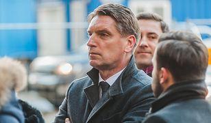 Tomasz Lis w czasie pogrzebu Adamowicza w Gdańsku