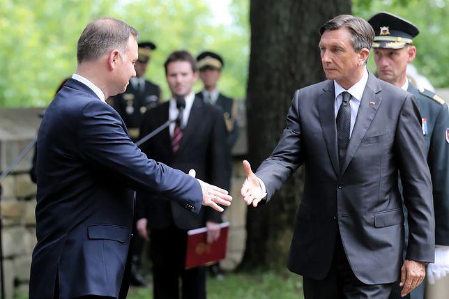 Przed przyjazdem do Gorlic prezydenci Polski i Słowenii odbyli krótkie spotkanie