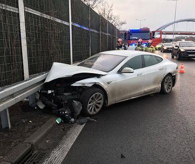 Kierowca został zbadany na miejscu