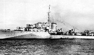 Polski okręt wojenny - niszczyciel z okresu II wojny światowej.