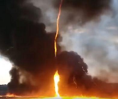 Nietypowe zjawisko podczas gaszenia pożaru