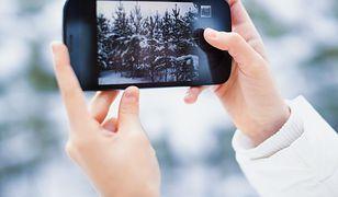 smartfon zima