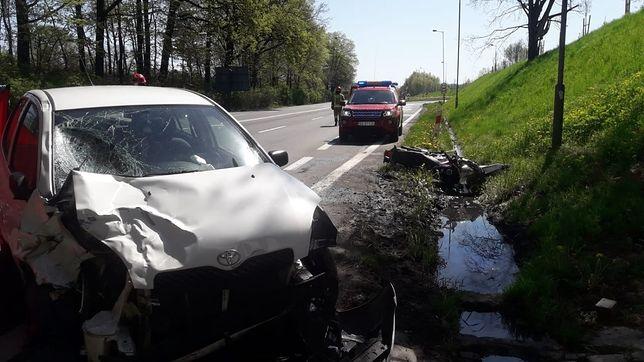 Gliwice. W wypadku na DK 88 zginął motocyklista.
