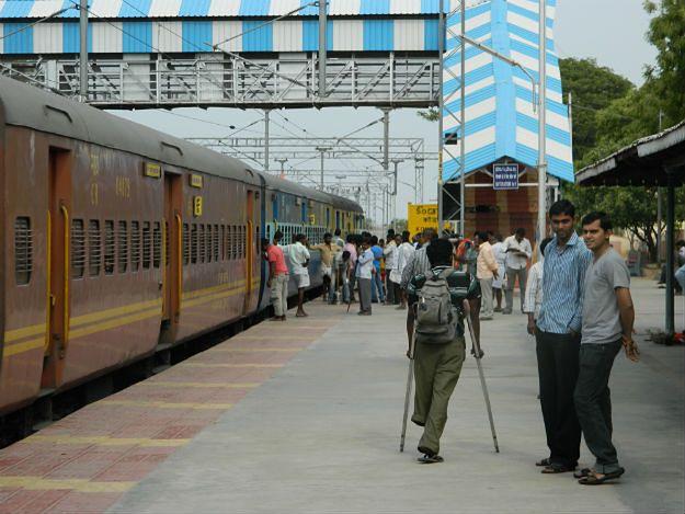 Stacja kolejowa w południowych Indiach