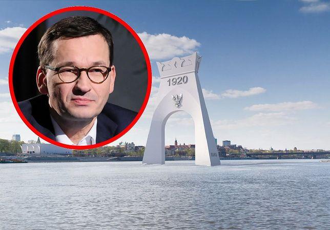 Mateusz Morawiecki skrytykowany za pomysł budowy Łuku Triumfalnego na Wiśle w Warszawie
